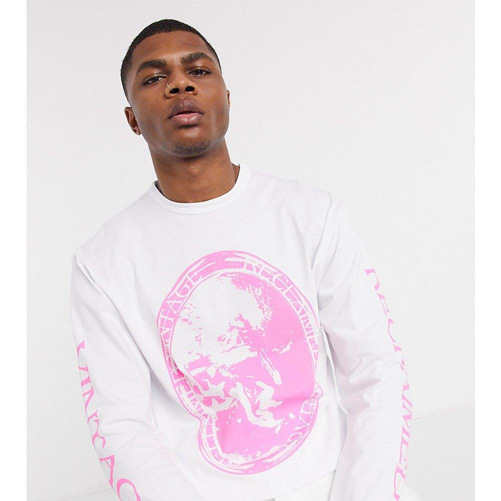 Inspired - T-shirt à manches longues avec imprimé artistique - Reclaimed Vintage - Modalova