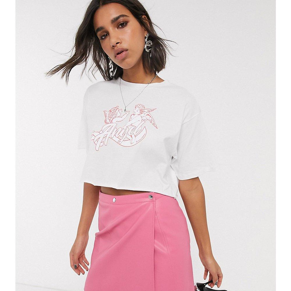 Inspired - T-shirt crop top à imprimé ange - Reclaimed Vintage - Modalova
