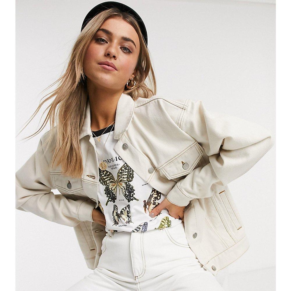Inspired - Veste en jean oversize - Délavage écru - Reclaimed Vintage - Modalova