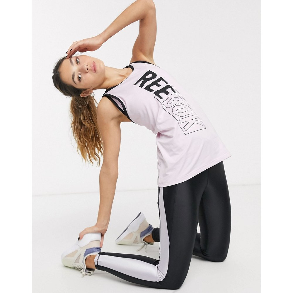 Débardeur de sport avec logo et bretelles au dos - Reebok - Modalova