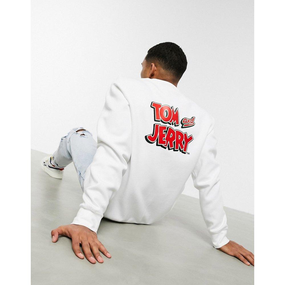 - Sweat-shirt à imprimé Tom and Jerry au dos - Blanc - Reebok - Modalova