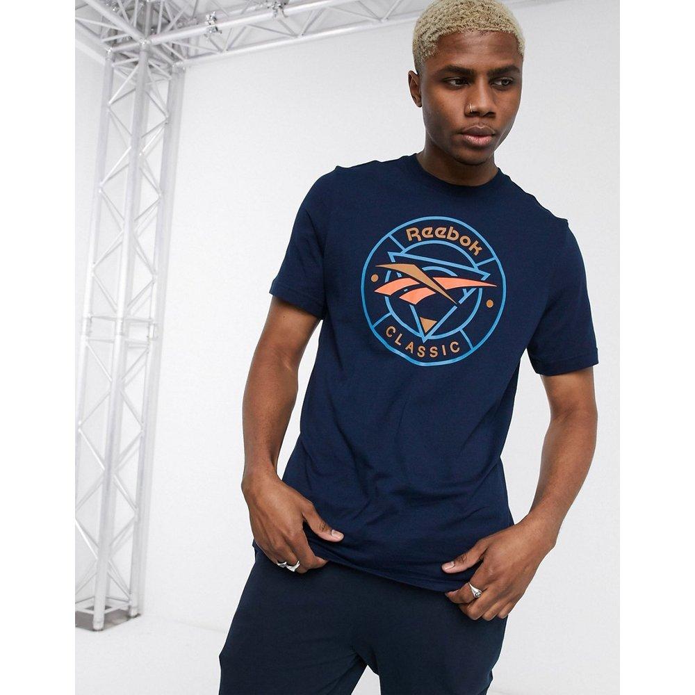 T-shirt classique à imprimé vecteurs circulaires - Bleu marine - Reebok - Modalova