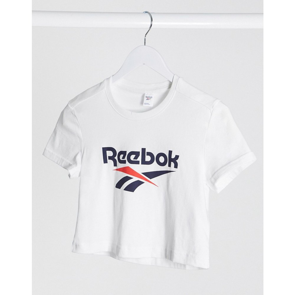 T-shirt crop top classique avec grand logo vecteur - Reebok - Modalova