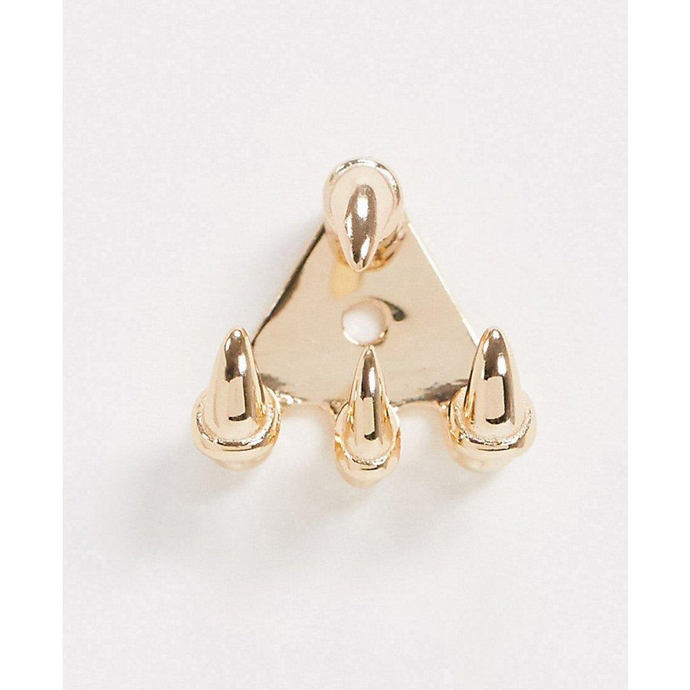 Boucle d'oreille serres en argent massif plaqué or - Regal Rose - Modalova
