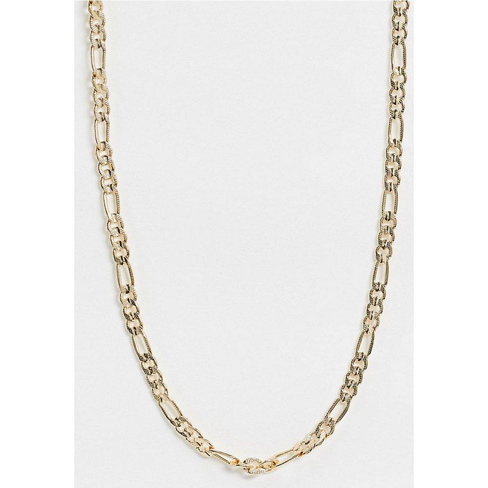 Collier en plaqué or avec chaîne en maille alternée - Regal Rose - Modalova