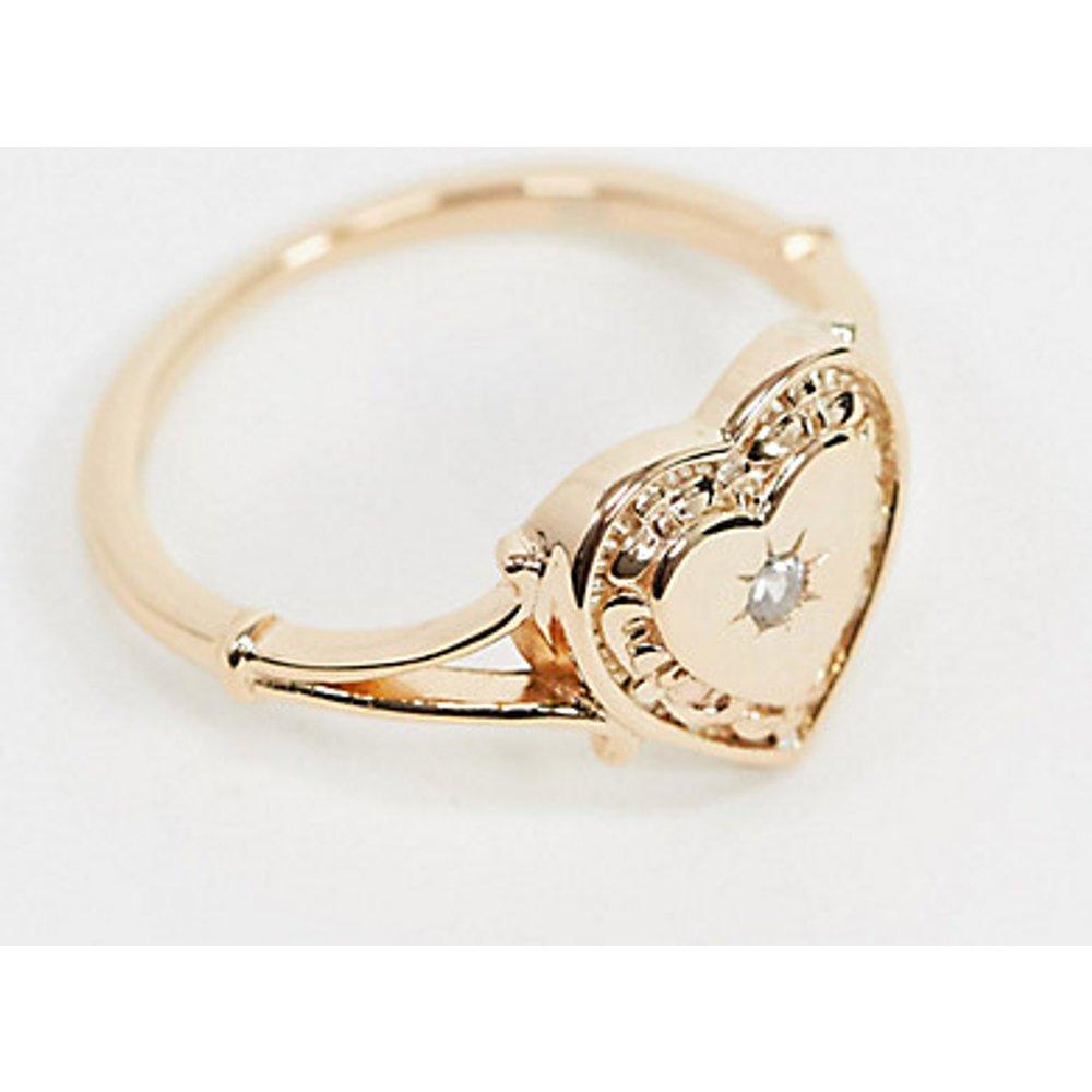 My Darling - Chevalière cœur en plaqué or - Regal Rose - Modalova