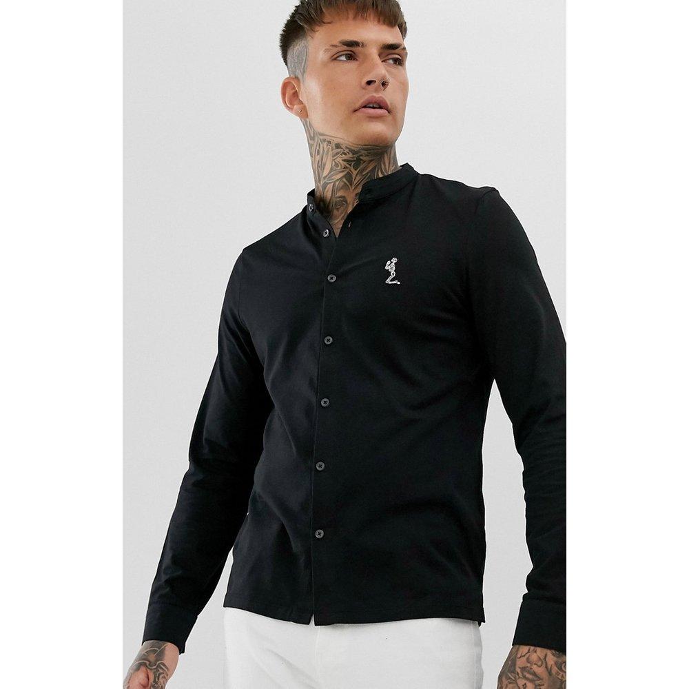 Chemise slim en jersey col grand-père - Religion - Modalova