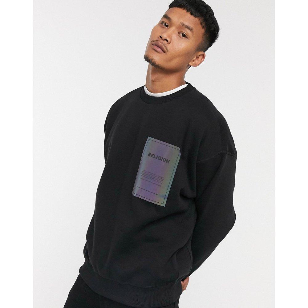 Sweat-shirt ras de cou oversize à étiquette irisée - Religion - Modalova