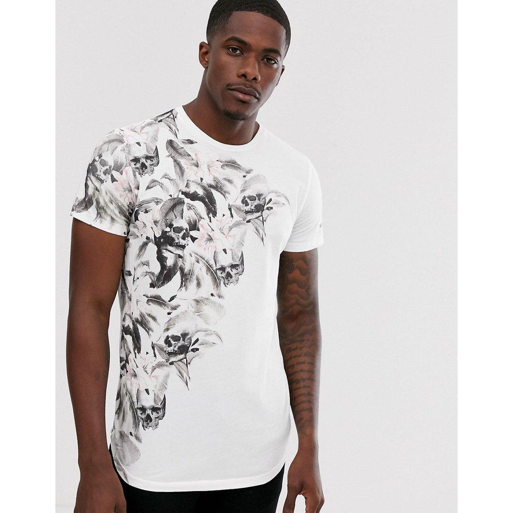 T-shirt avec imprimé à fleurs et crâne - Religion - Modalova