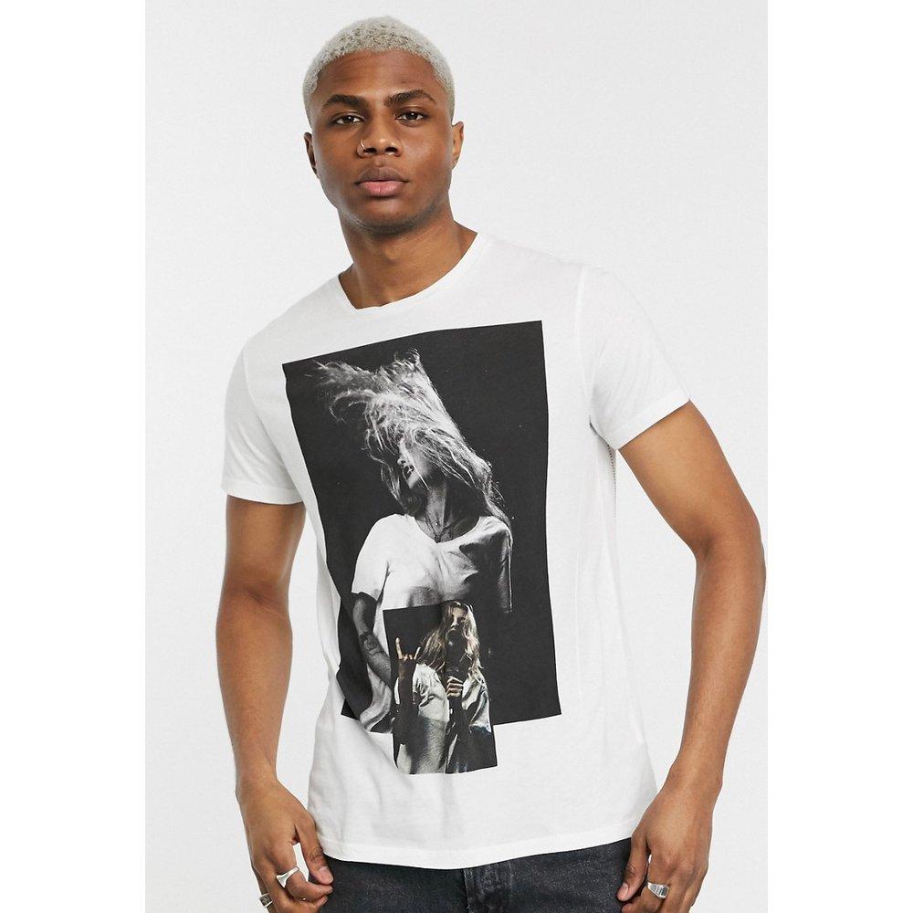 T-shirt imprimé avec logo dans le dos - Religion - Modalova