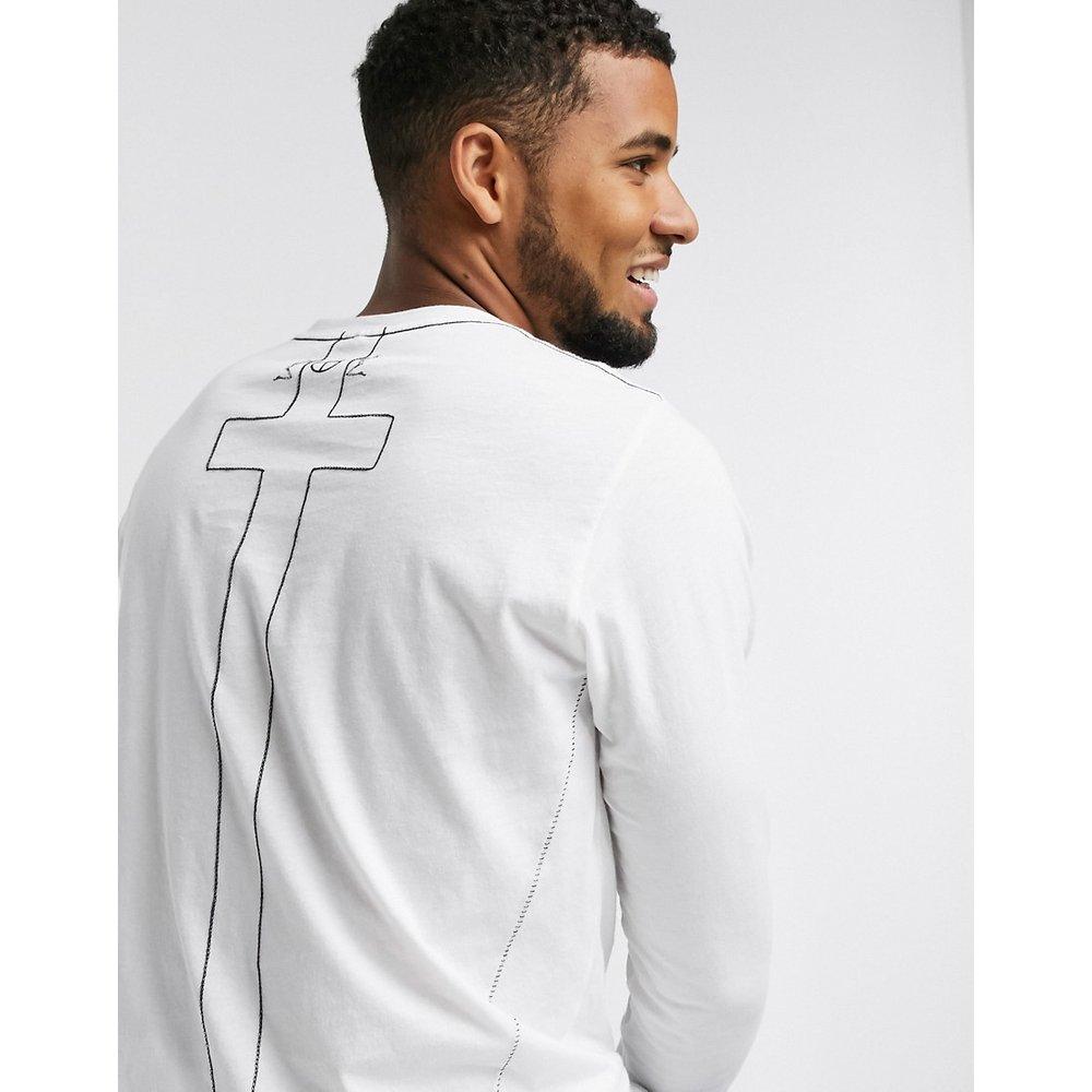 T-shirt manches longues en coton biologique - Religion - Modalova