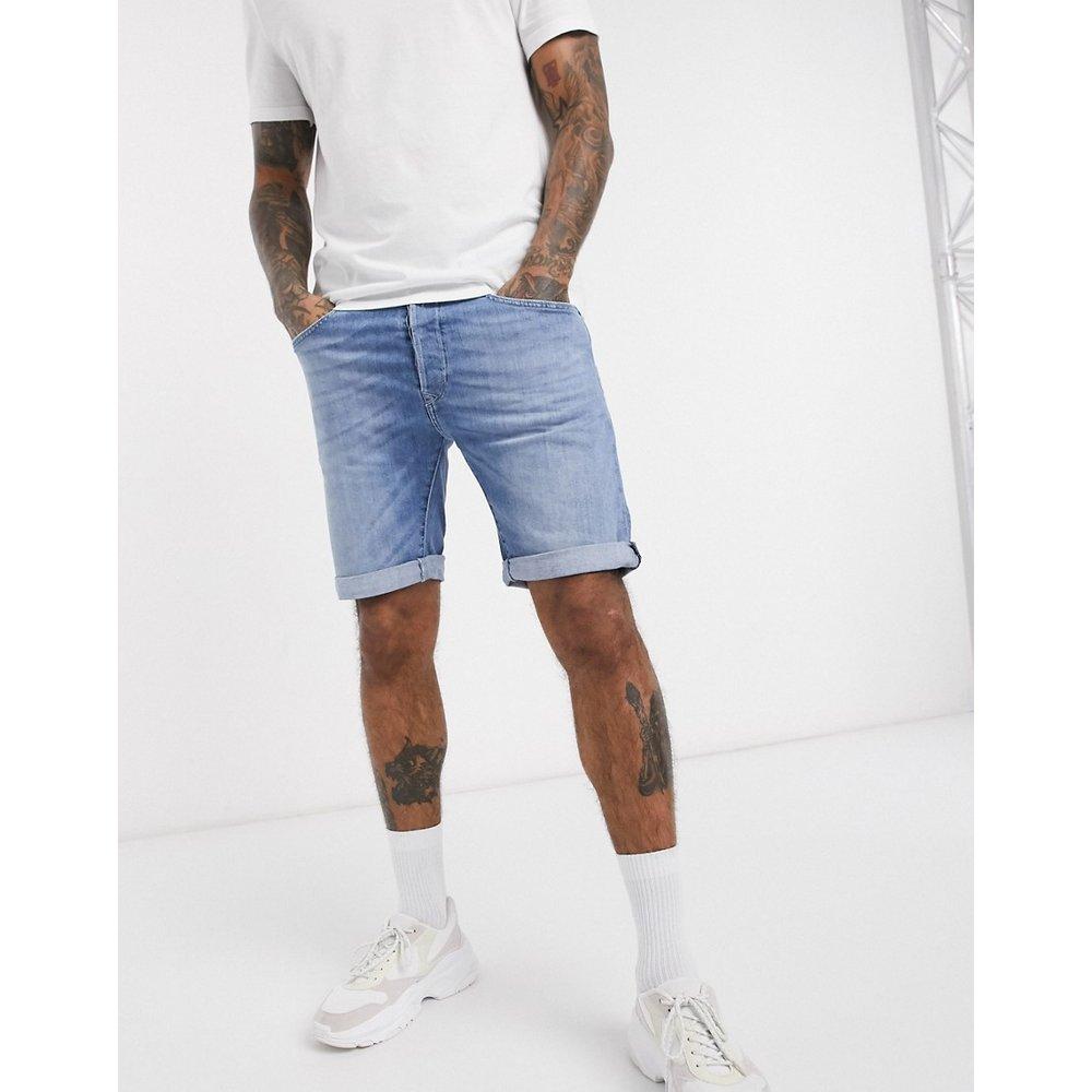 Anbass - Short en jean coupe slim - Délavage clair - Replay - Modalova