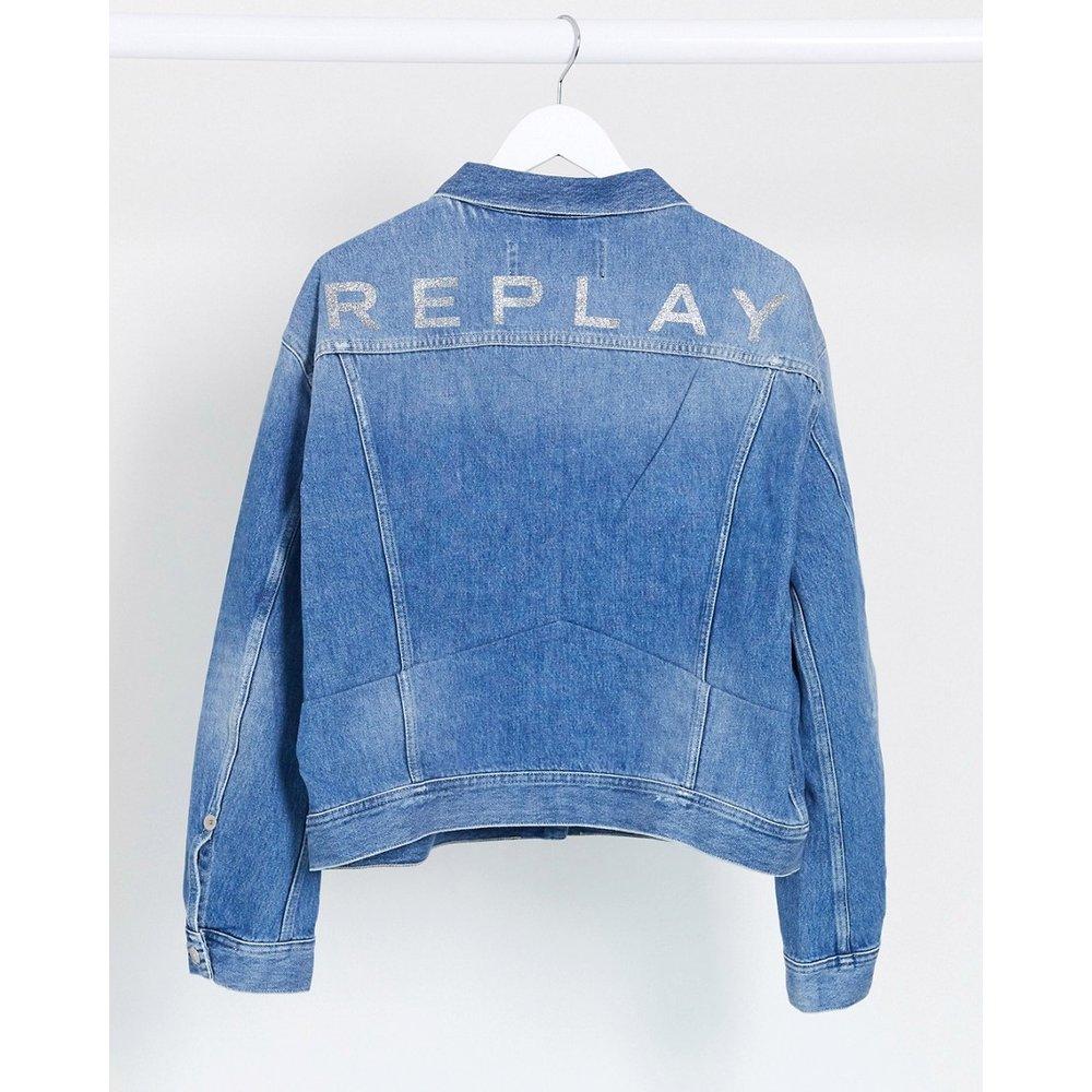 Replay - Veste courte - Bleu clair - Replay - Modalova