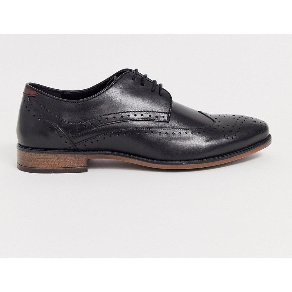 Chaussures richelieu en cuir à laçage double - River Island - Modalova