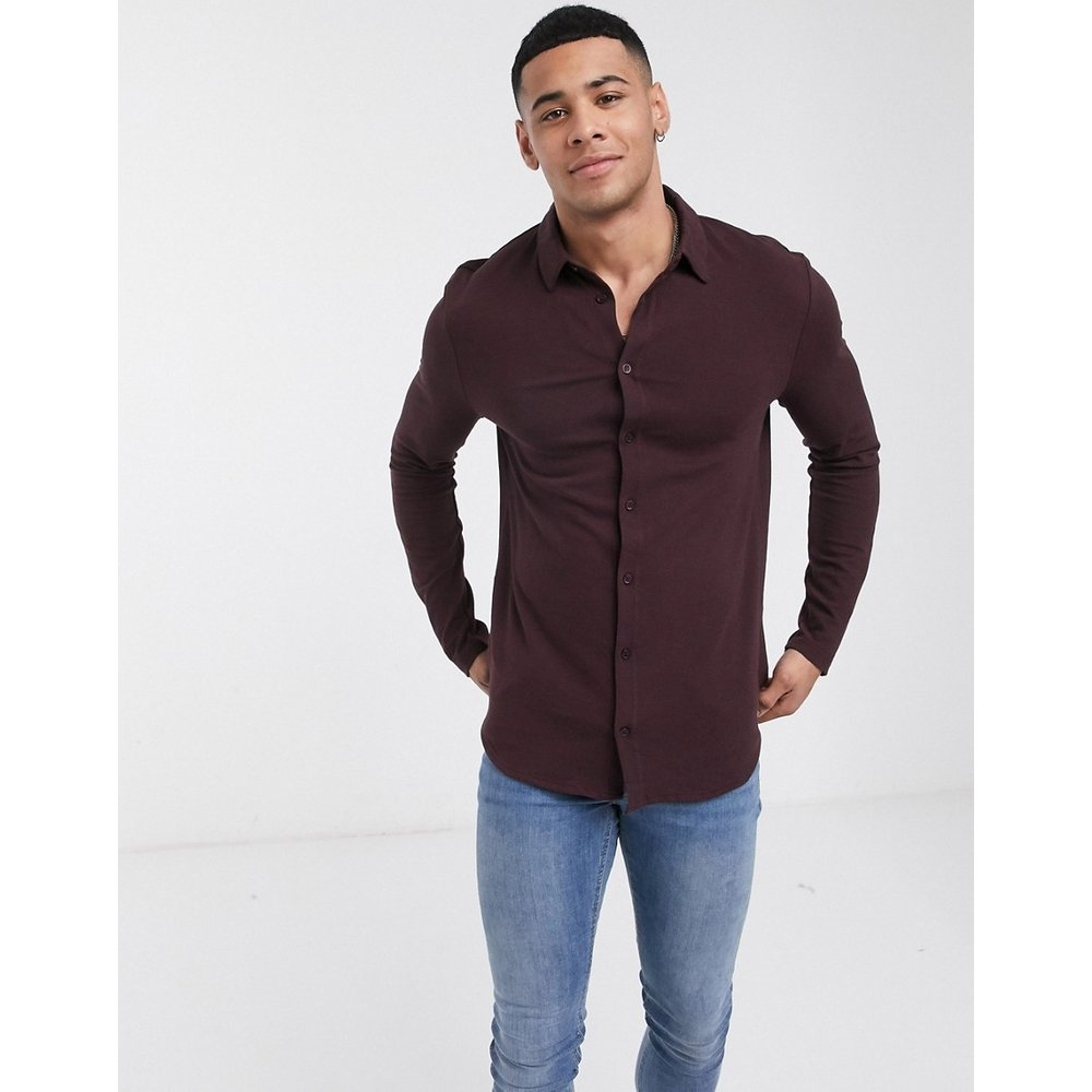 Chemise à manches longues - Bordeaux - River Island - Modalova