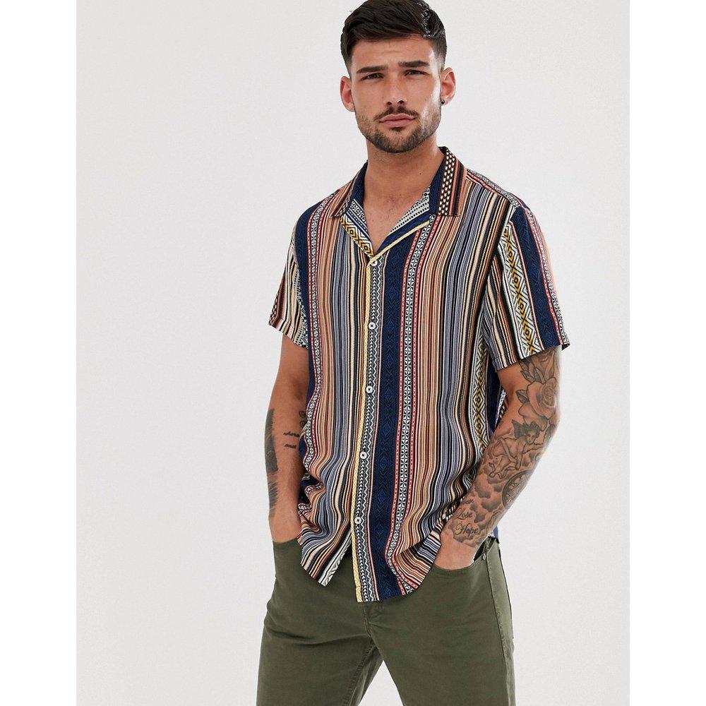 Chemise avec col à revers et imprimé aztèque - River Island - Modalova
