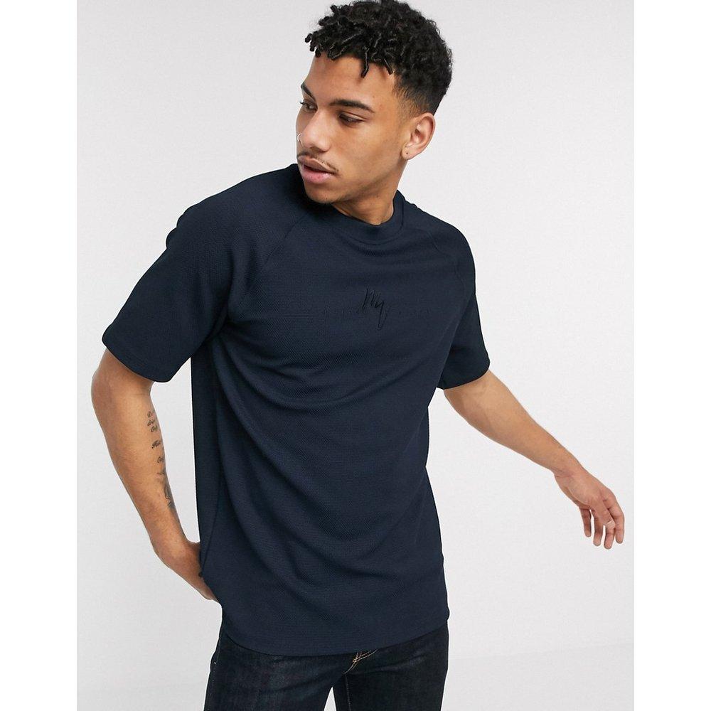 Maison Riviera - T-shirt à manches raglan - Bleu marine - River Island - Modalova