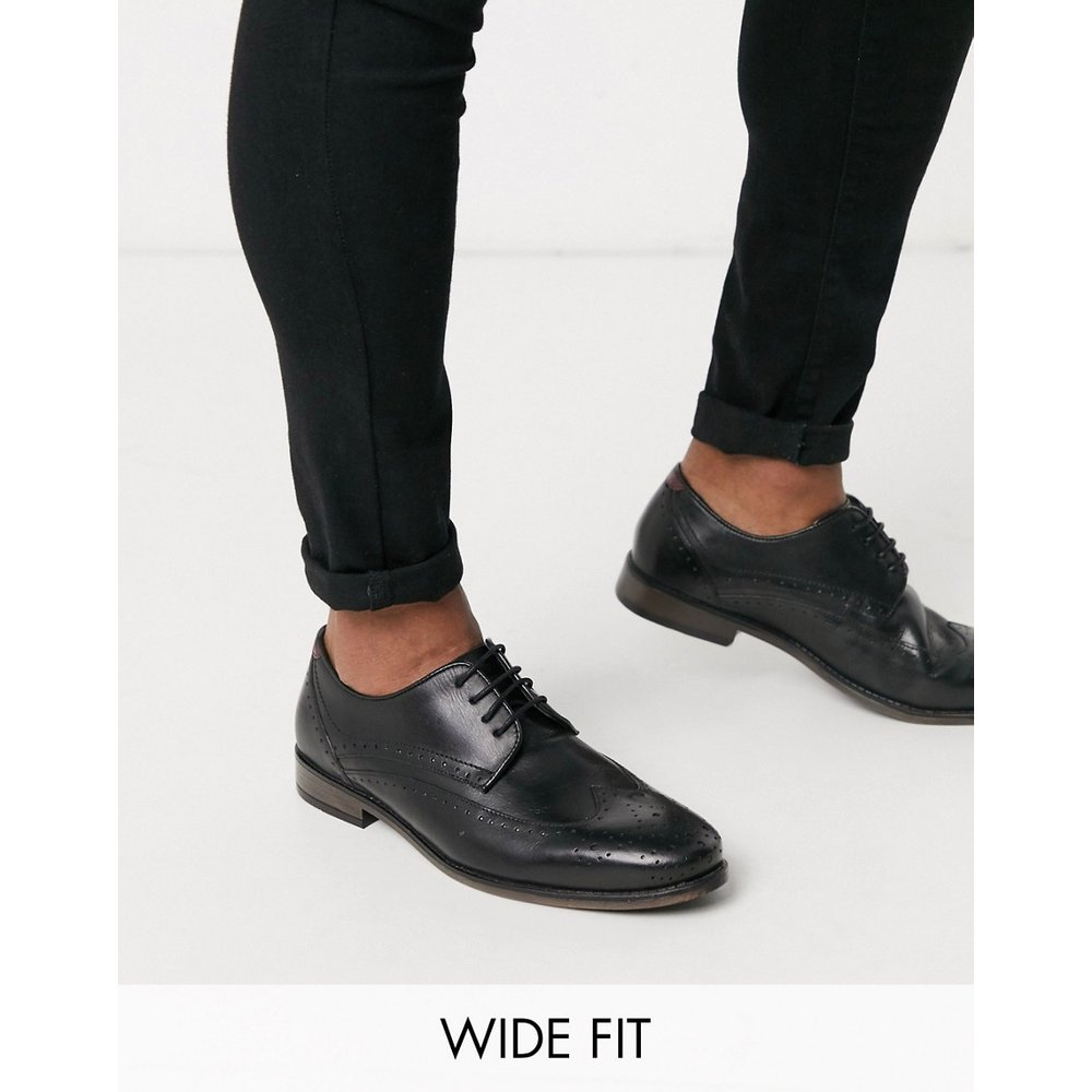 Pointure large - Chaussures richelieu en cuir - River Island - Modalova