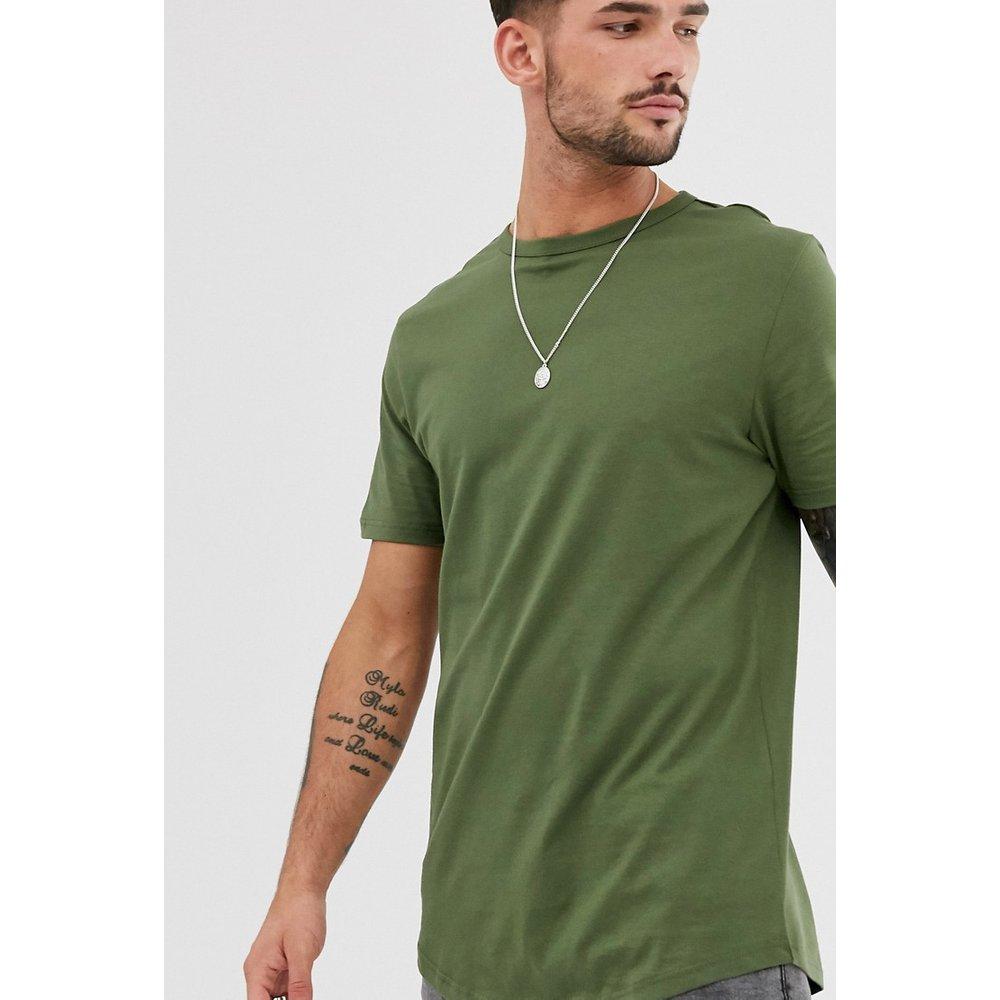 T-shirt à ourlet double - Kaki - River Island - Modalova