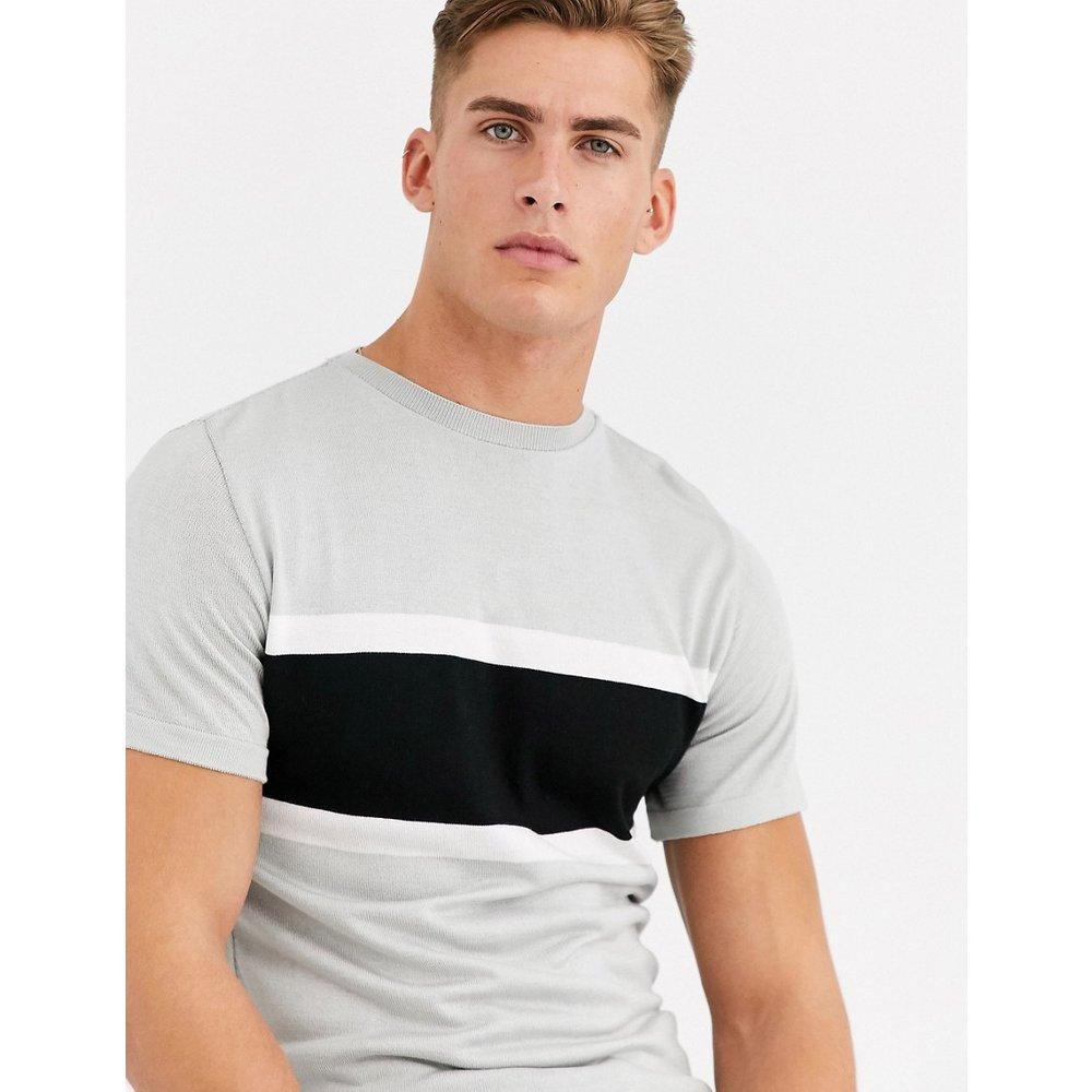 T-shirt ajusté en maille - River Island - Modalova