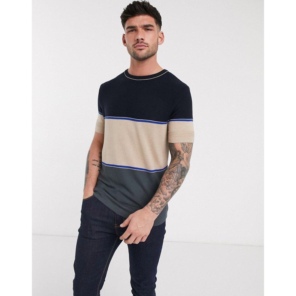 T-shirt color block en maille - River Island - Modalova