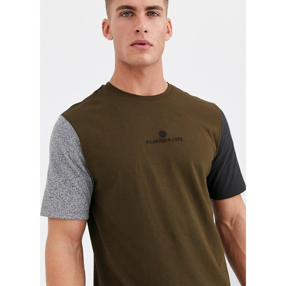 T-shirt color block - Kaki - River Island - Modalova