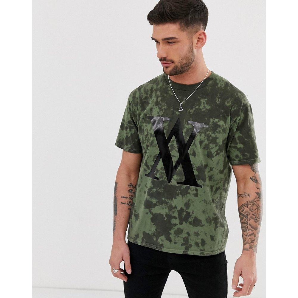 T-shirt effet tie-dye - Kaki - River Island - Modalova