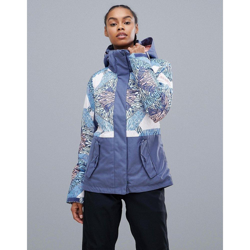 Jetty Block - Veste de ski à imprimé multicolore - Roxy - Modalova