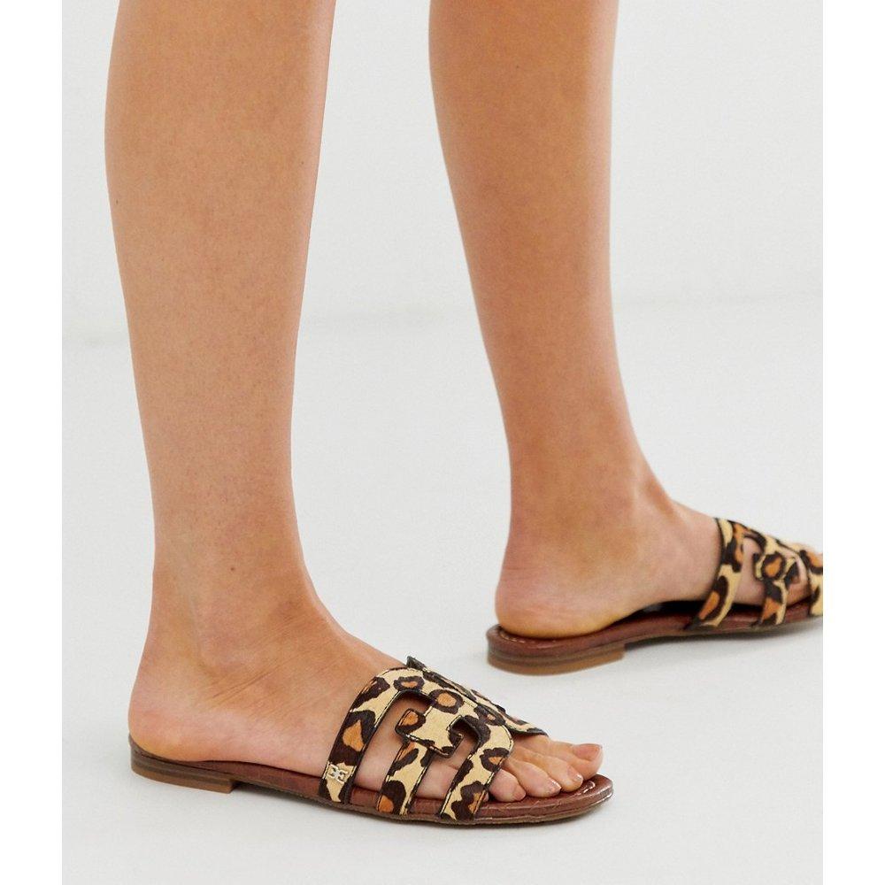 Sandales plates style mules à brides croisées et motif léopard - Sam Edelman - Modalova