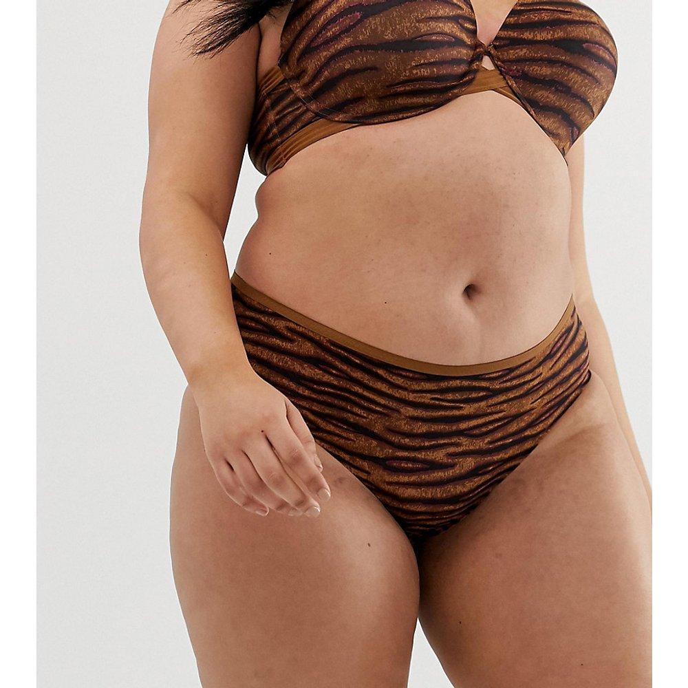 Curvy - Culotte taille basse à imprimé animal - Tigre caramel - SAVAGE X FENTY - Modalova