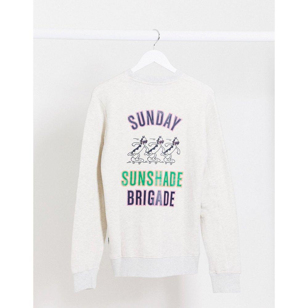 Sweat-shirt ras de cou mélangé avec imprimé noir - Scotch & Soda - Modalova