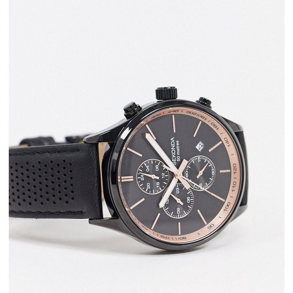 Montre chronographe en cuir - Sekonda - Modalova