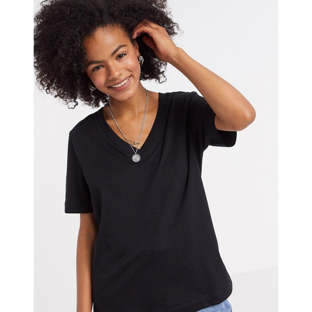 T-shirt col V à manches courtes - Selected - Modalova