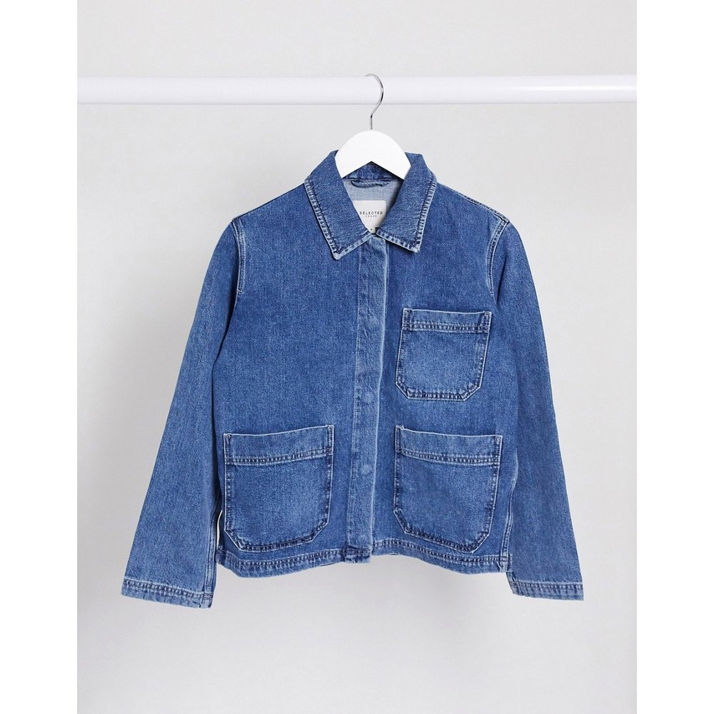 Veste en jean style worker - Selected - Modalova