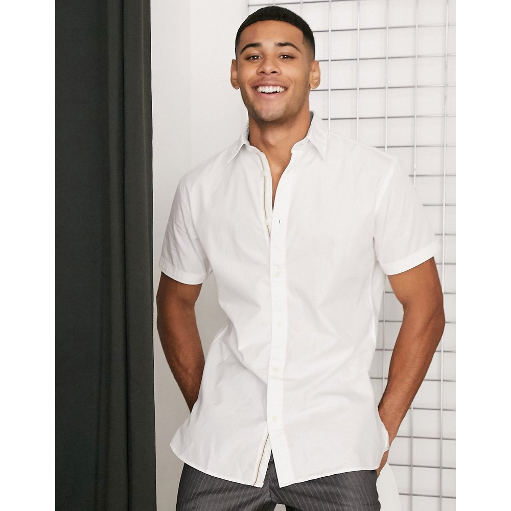 Angles - Chemise slim à manches courtes - Selected Homme - Modalova