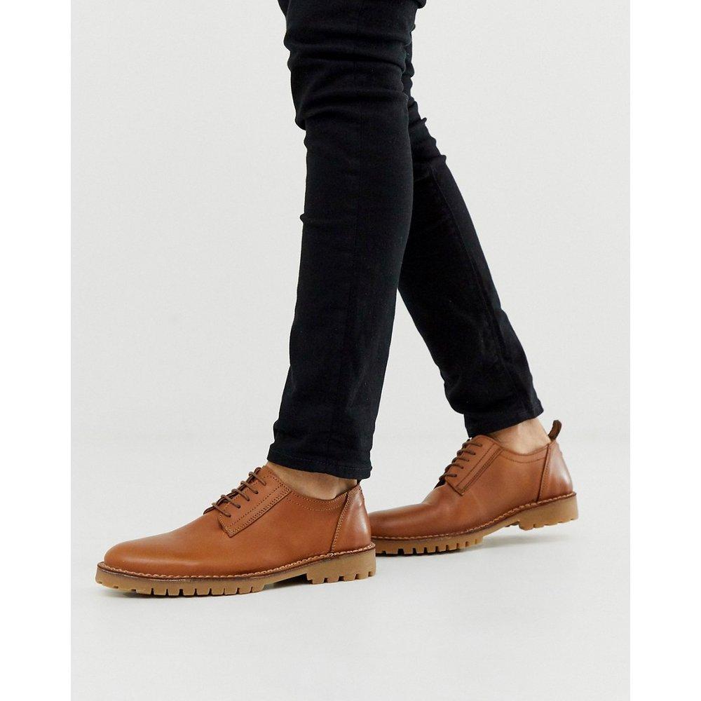 Chaussures derby en cuir à semelles épaisses - Selected Homme - Modalova
