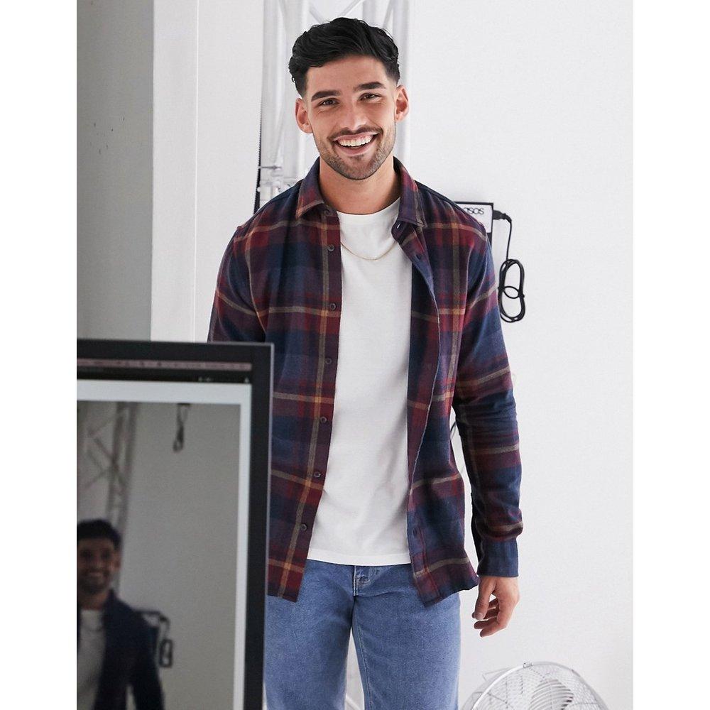 Chemise à carreaux effet brossé - Selected Homme - Modalova