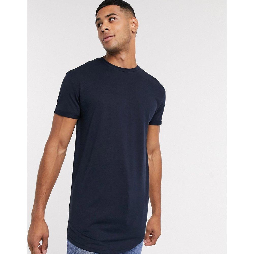 Colin - T-shirt long à col rond - Selected Homme - Modalova