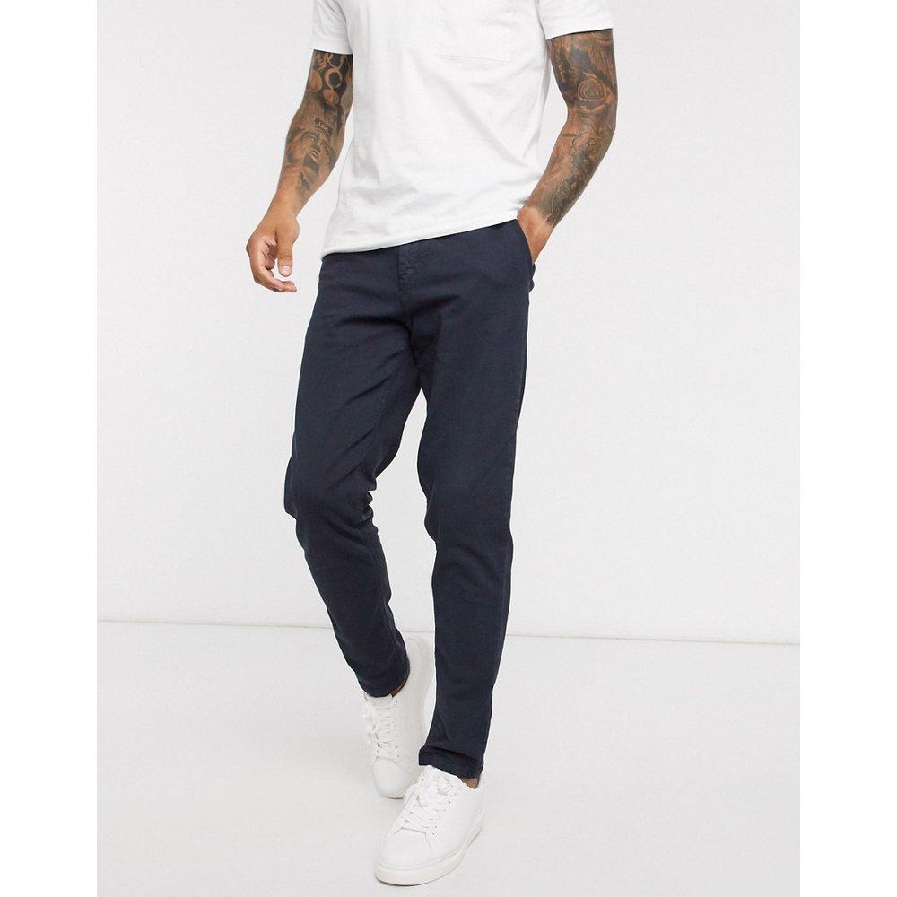 Cooper - Pantalon chino coupe slim - Bleu marine - Selected Homme - Modalova