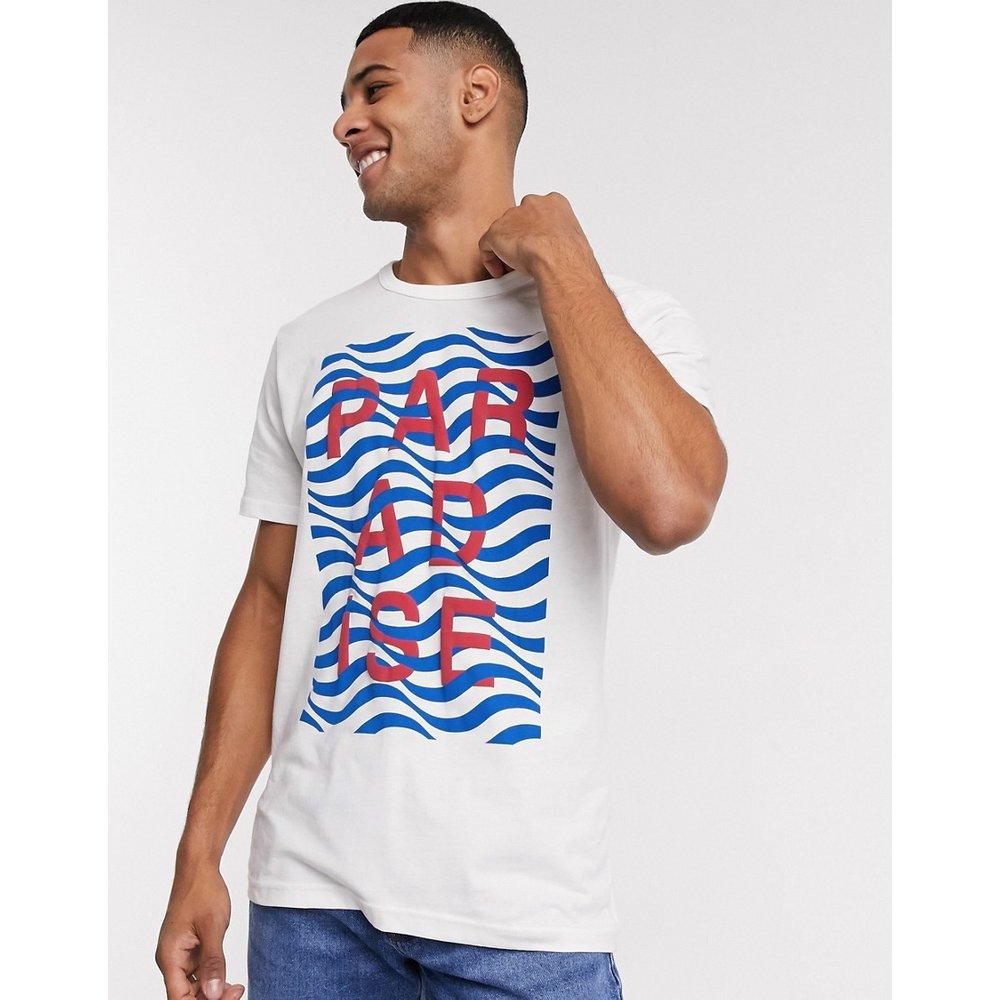 Joel - T-shirt col rond avec imprimé texte - Selected Homme - Modalova