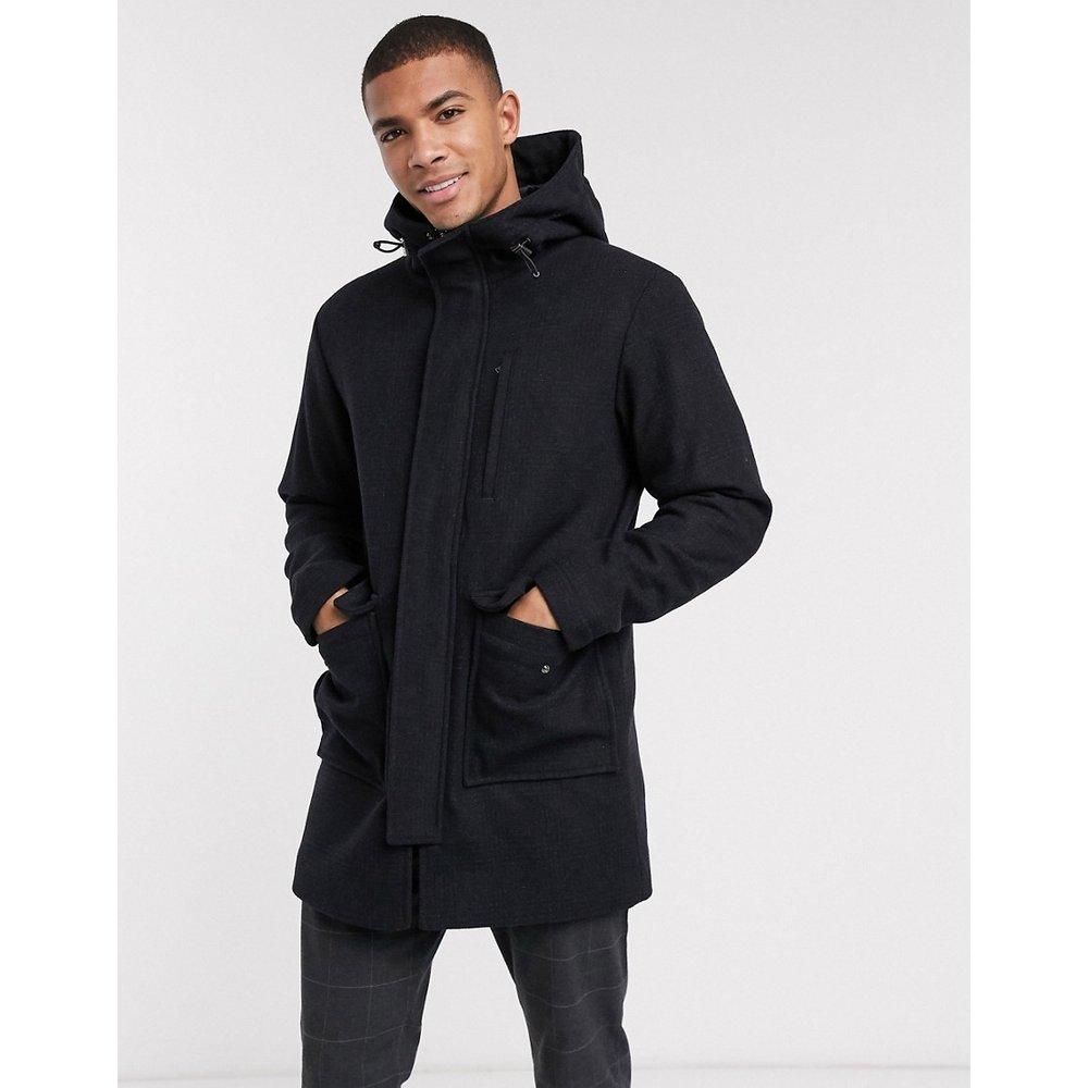 Manteau en laine à col cheminée - Selected Homme - Modalova