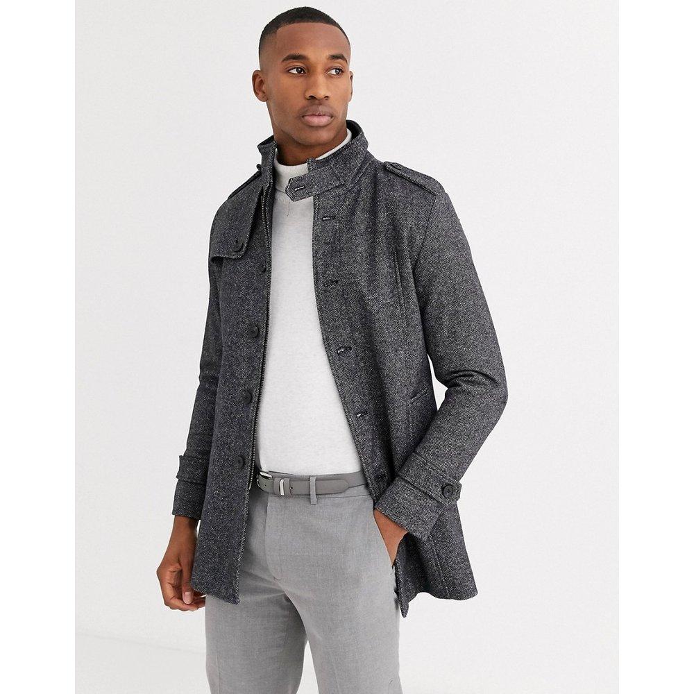 Manteau en laine à col officier - Selected Homme - Modalova