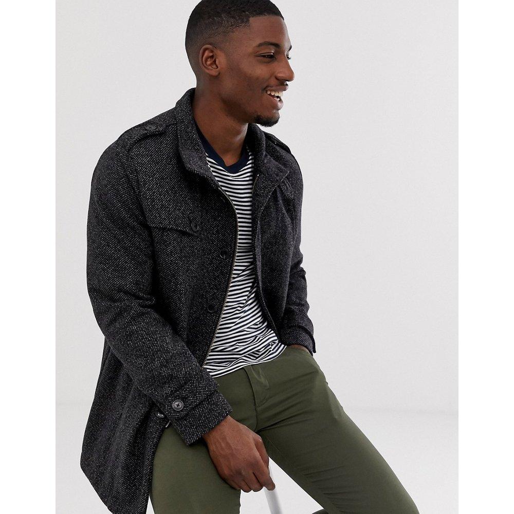 Manteau en laine col cheminée - Selected Homme - Modalova