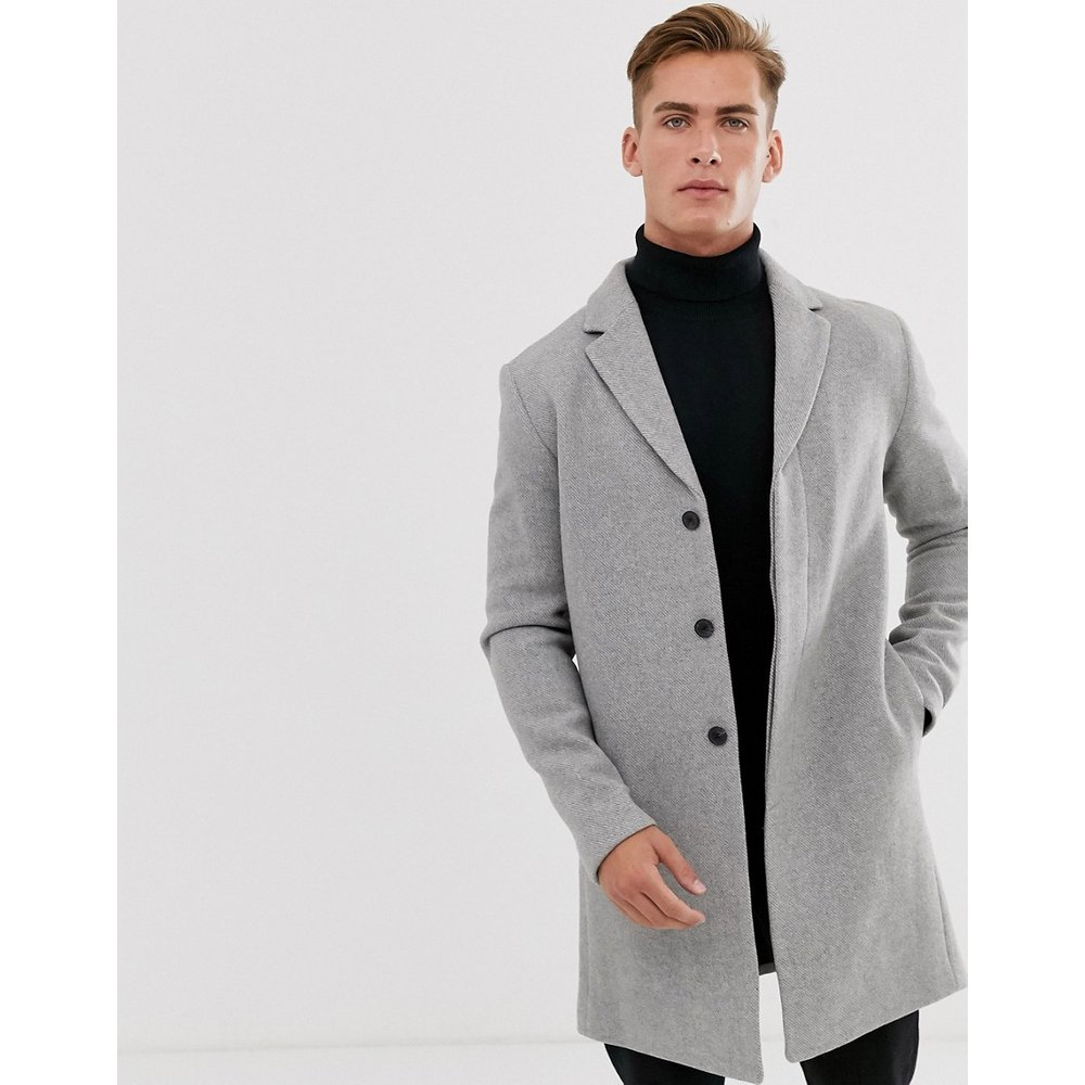 Manteau en laine recyclée - Selected Homme - Modalova