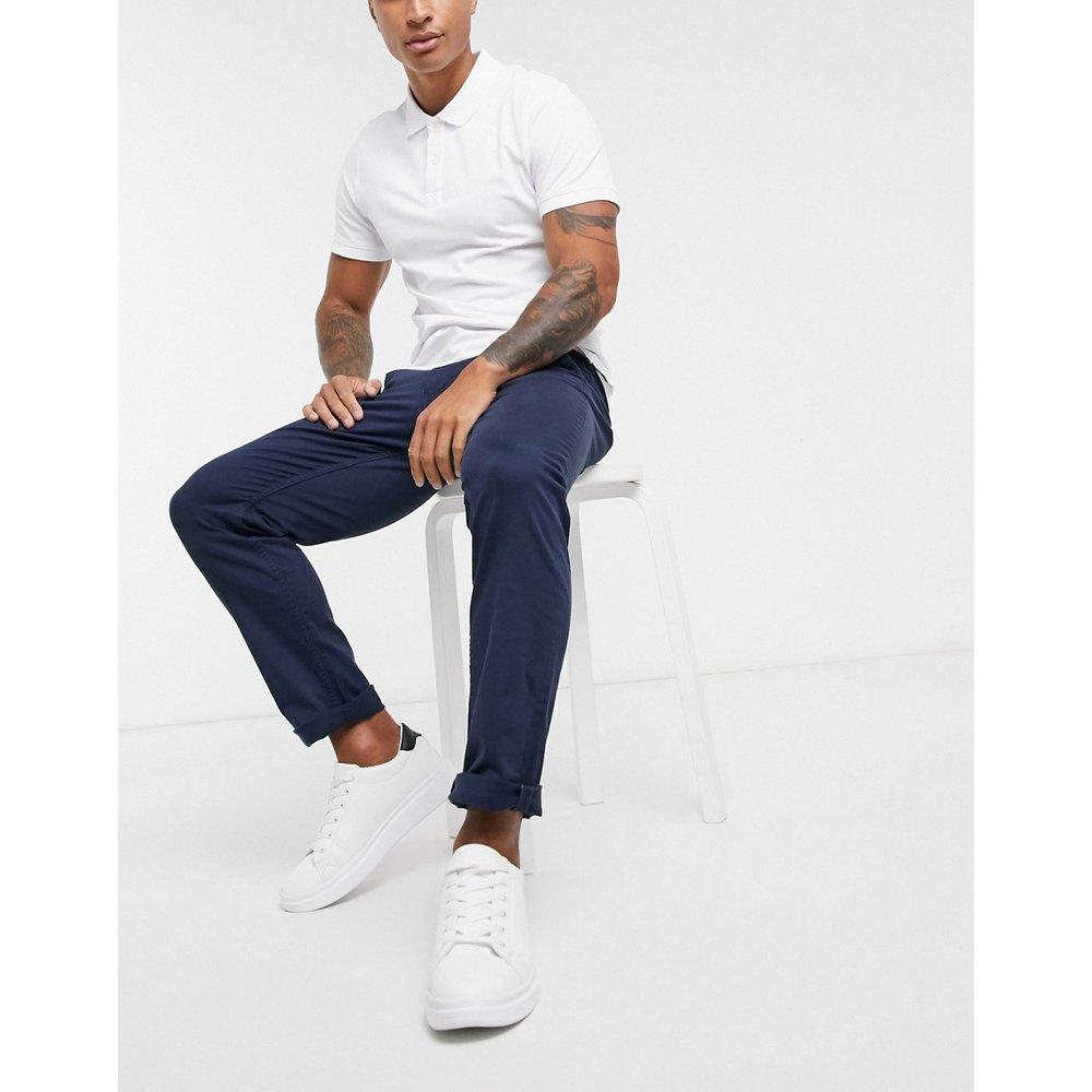 Pantalon chino coupe droite - Bleu marine - Selected Homme - Modalova
