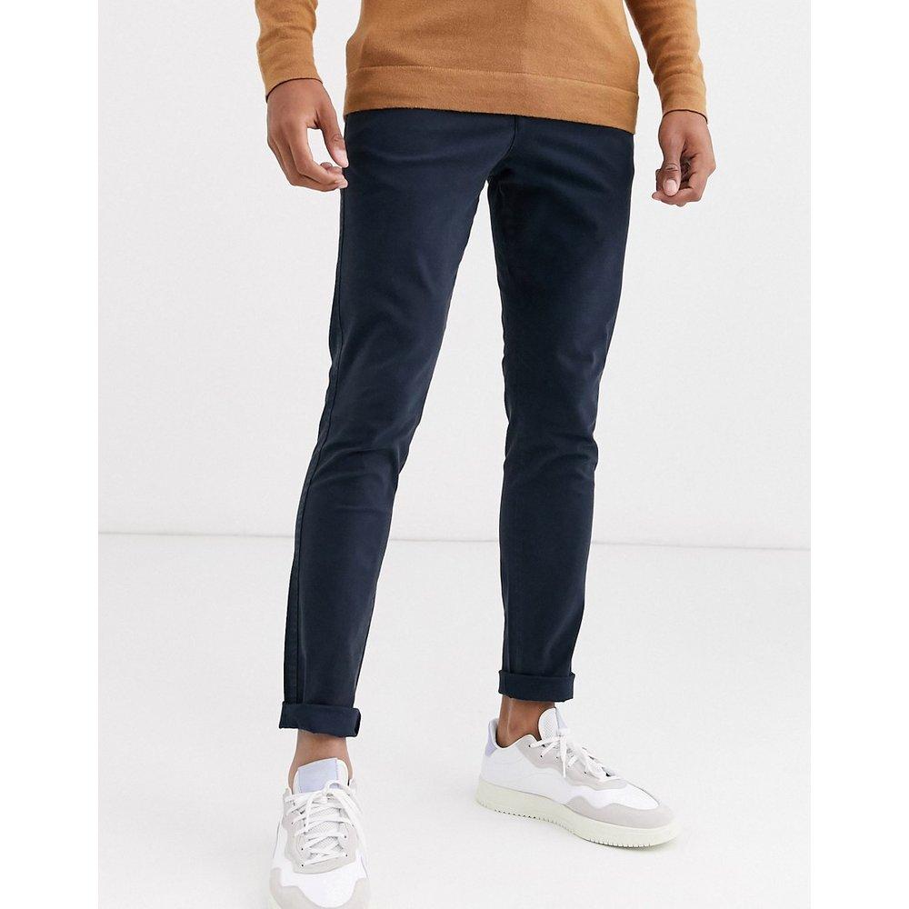 Pantalon chino coupe skinny - Bleu marine - Selected Homme - Modalova