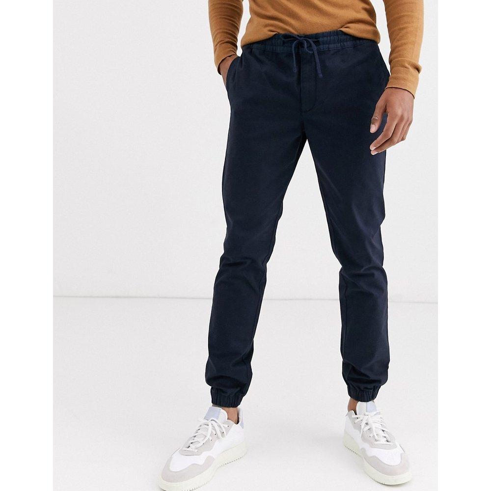Pantalon chino coupe slim resserré aux chevilles - Bleu marine - Selected Homme - Modalova