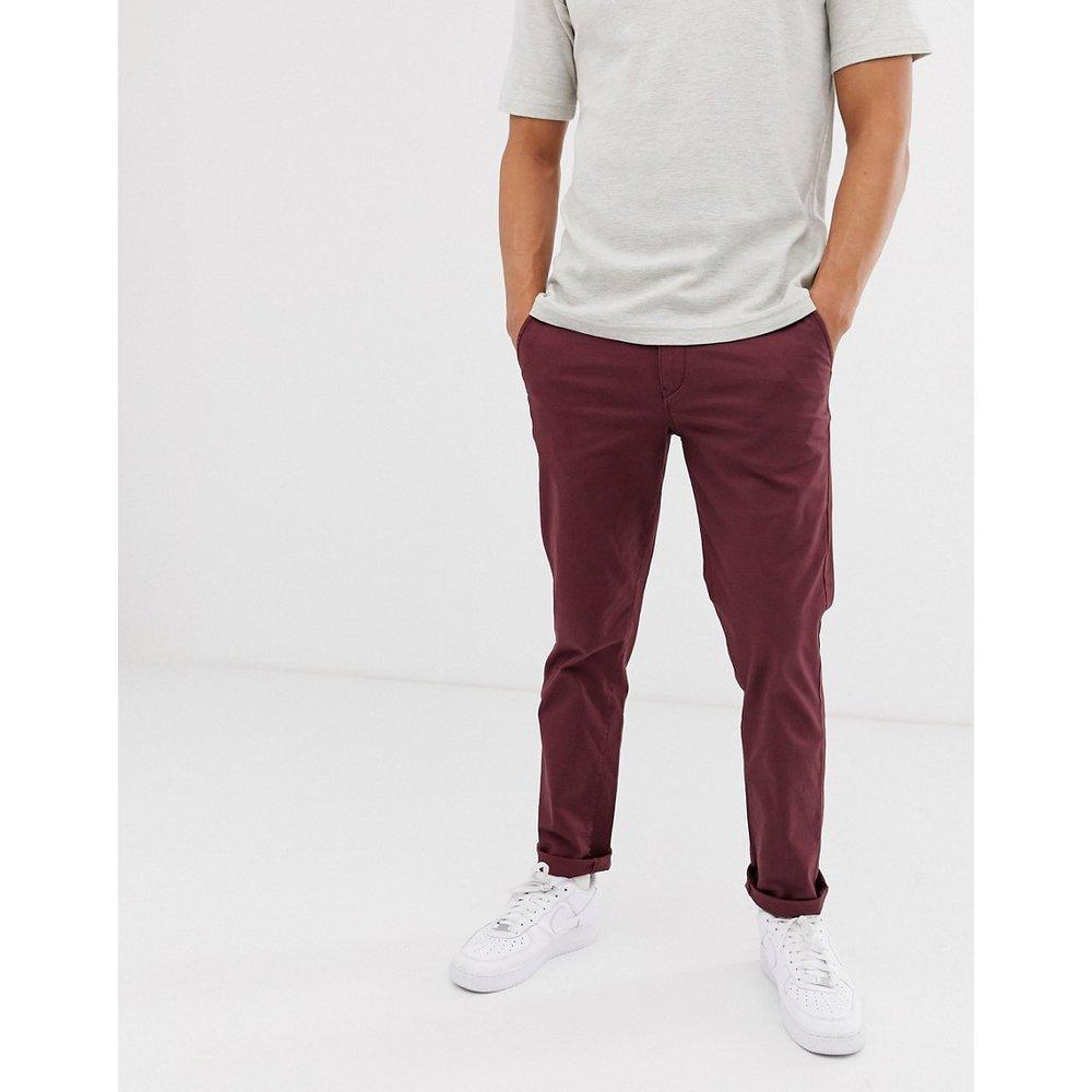 Pantalon chino droit - Bordeaux - Selected Homme - Modalova