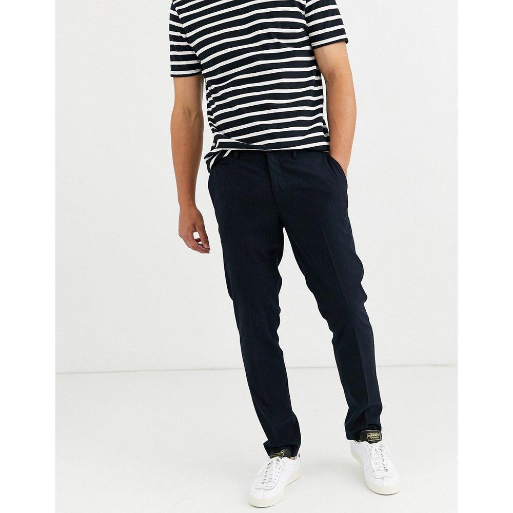 Pantalon coupe classique à fines rayures - Bleu marine - Selected Homme - Modalova