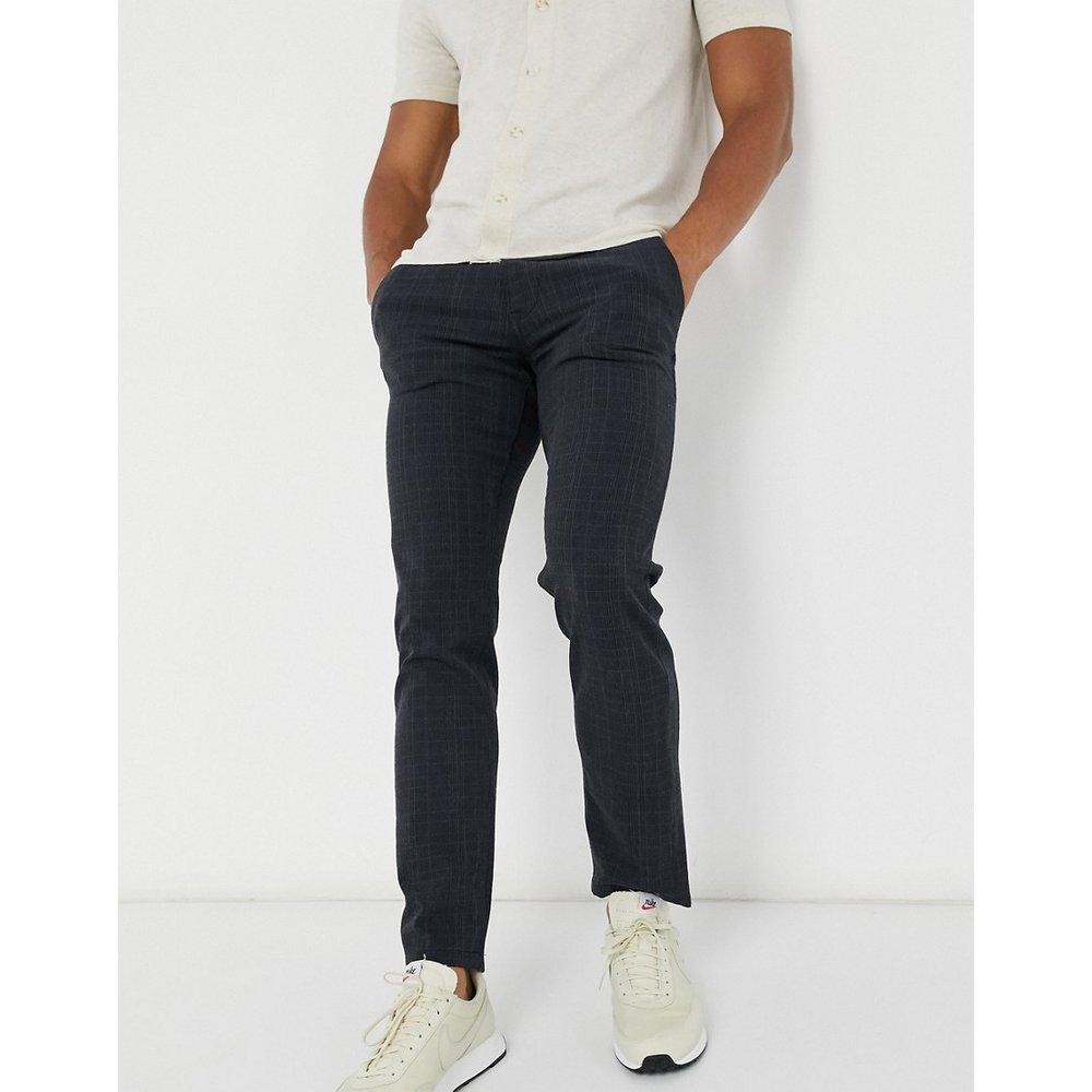 Pantalon coupe slim à carreaux - Bleu marine - Selected Homme - Modalova